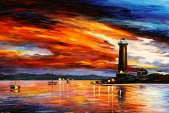 leonid afremov - latarnia morska