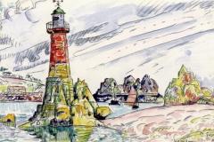 paul signac - lezardrieux. latarnia morska - 1925 28